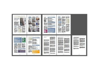 Fac-similé de la fiche pratique : Mesure des plis cutanés
