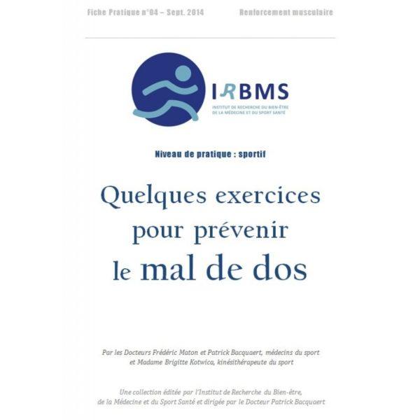 Quelques exercices pour prévenir le mal de dos (fiche pratique)