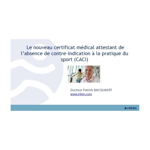 Le Certificat Médical de non contre-indication (diaporama)