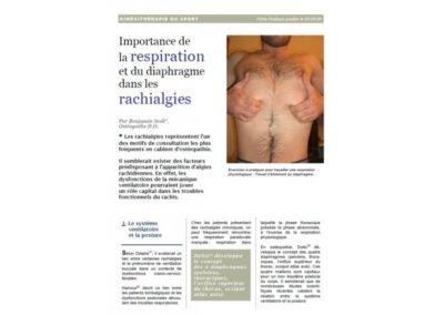 La respiration dans les rachialgies (Fiche Pratique)