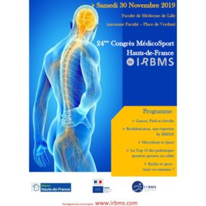 Diaporamas (ZIP) 24ème MédicoSport by IRBMS (Nov. 2019)