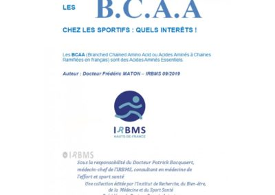 Les B.C.A.A. chez les sportifs : quels intérêts ?